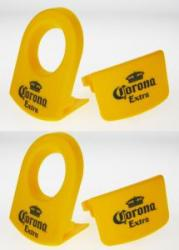 CoronaRita Holder for Corona beer, Mexican Margarita, set of 4 clips