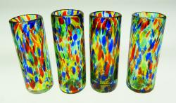 Bright Confetti shot glasses  set of four